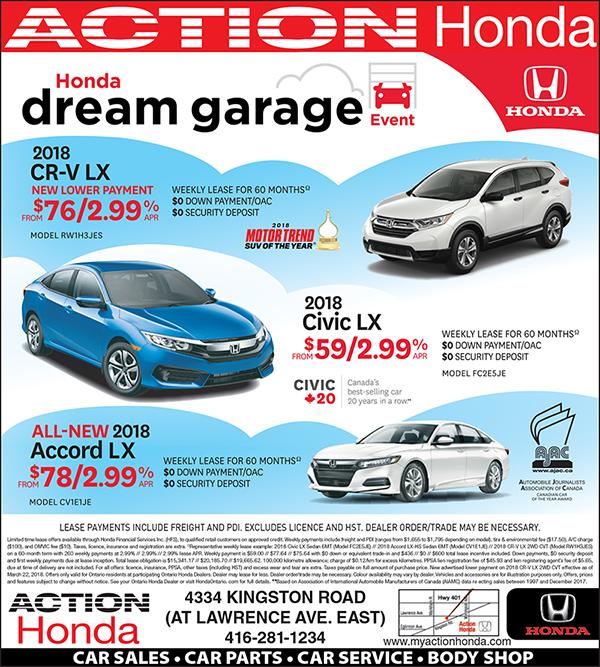 Honda Financial Services Payment >> Honda S Dream Garage Continues Action Honda