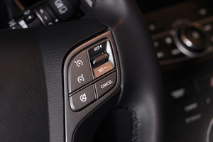 Keep your speed consistent with cruise control