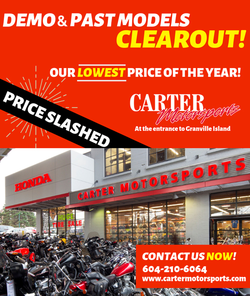 Demo Past Model Clearout Carter Honda