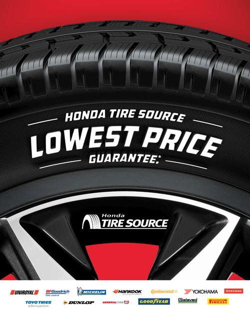 Tire Source Price Guarantee   Trent Valley Honda